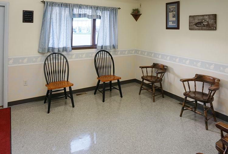 feline patient waiting area