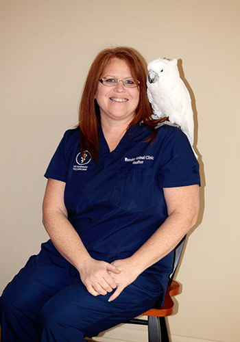 vet technician heather at wooster animal clinic